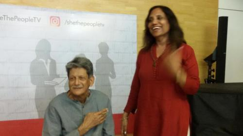 A light moment with Author Kiran Nagarkar