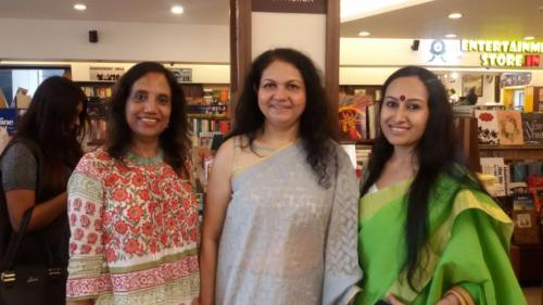 with Sujata Dev and Koral Dasgupta At Shethepeoplebook event.