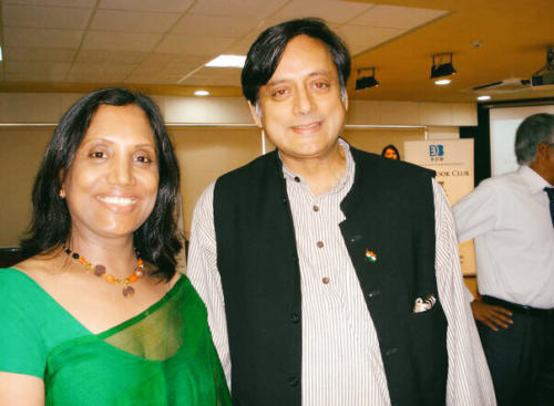 With Shashi Tharoor on launch of The Tiger, the Elephant and the Cellphone