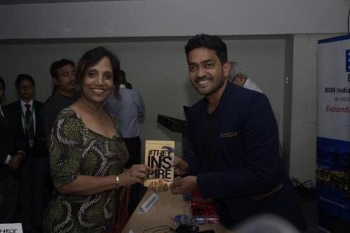 With Author Lt. Cdr. Bijey Nair