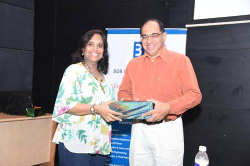 Presenting a memento to Chief Guest at BDB Book Club
